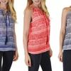 Women's Sleeveless Print Tunic Top