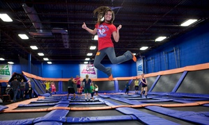 Sky Zone: $15 for One Hour of Trampoline Time and SkySocks for Two at Sky Zone ($28 Value), Valid for Walk-Ins Only