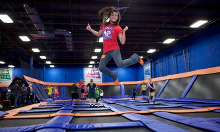 $15 for One Hour of Trampoline Time and SkySocks for Two at Sky Zone ($28 Value), Valid for Walk-Ins Only