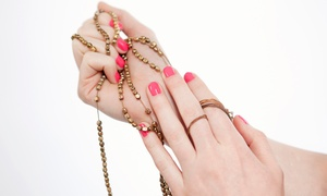 Metro Salon: Gel Manicure and Regular Pedicure or Two Gel Manicures at Metro Salon (Up to 57% Off)