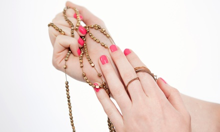 Gel Manicure and Regular Pedicure or Two Gel Manicures at Metro Salon (Up to 57% Off)