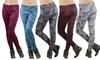 Women's Heavy-Knit Fleece-Lined Leggings: Women's Heavy-Knit Fleece-Lined Leggings