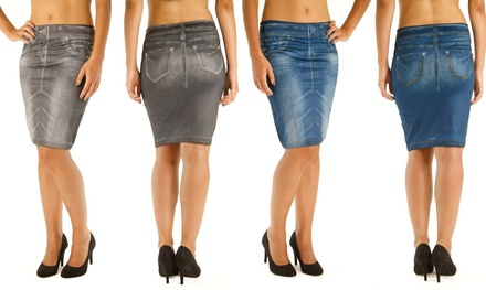 Two-Pack Slimming Effect Pencil Skirt for £6.98