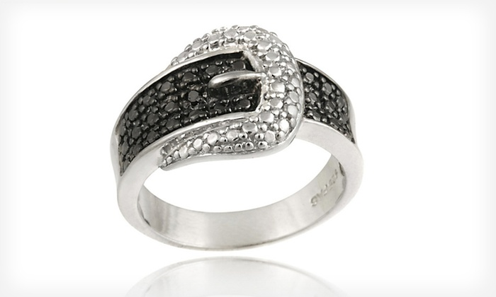 Sterling Silver Black Diamond–Accented Belt Buckle Ring: $19.99 for a Sterling Silver Black Diamond–Accented Belt Buckle Ring ($75 List Price). Free Shipping and Returns.