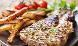 cactus grill bar restaurant: Rib-Eye Steak Meal For Two (£15) or Four (£28.90) at Cactus Grill Bar Restaurant (Up to 48% Off)