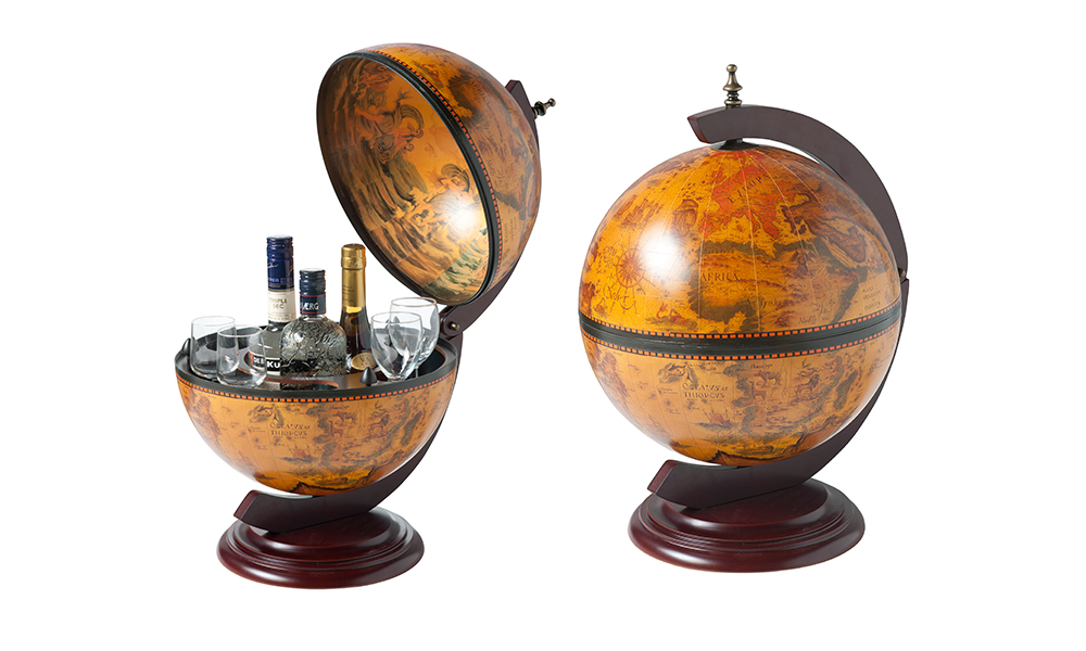 The Dimensions. Tabletop Bar Globe