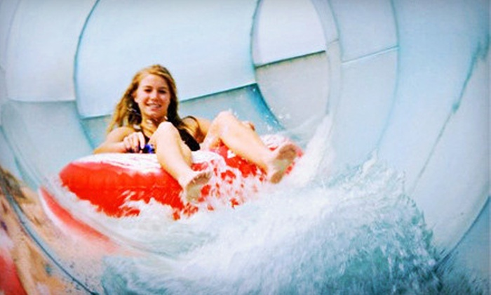 Water Park of America - East Bloomington: Water-Park Visit for One or Two with Pizza and Drinks at Water Park of America (Up to 47% Off)