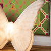 White Embossed Butterfly Lamp