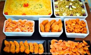 O Rei do Camarão: O Rei do Camarão – Águas Claras: rodízio de camarão, peixes e buffet de salada para 1, 2 ou 4 pessoas