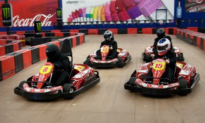 image for 2 or 4 Go-Kart Races for Adults or <strong>Kids</strong> with Mini Golf or Arcade Games at Driven Raceway (Up to 49% Off)
