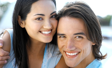 Dental Exam with Cleaning, Zoom! Teeth-Whitening Treatment, or Both at 1st Family Dental (Up to 84% Off)