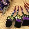 Six-Piece Rose Make-Up Brush Set