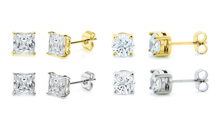 4-Pair Swarovski Elements Stud Earring Set