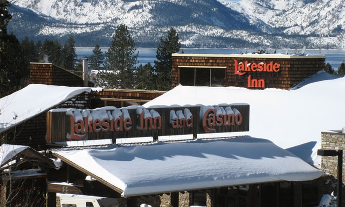 null - Reno: Stay with $10 Free Play & Beer at Lakeside Inn and Casino in Greater Lake Tahoe. Select Options Include Ski Rentals.