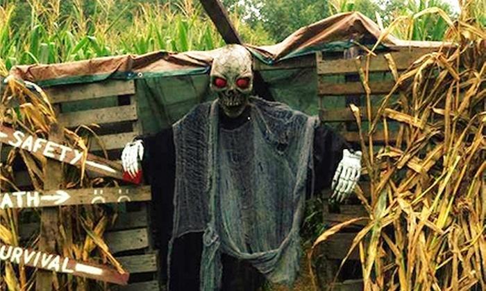 Hillside Horror - Wilkesboro: Hillside Horror Haunted-Farm Visit for Two or Four (Half Off)