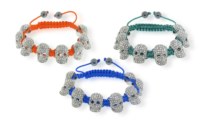 Crystal skull macrame bracelets: Crystal Skull Macrame Bracelets. Multiple Colors Available. Free Shipping and Returns.