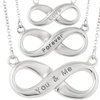 Sterling Silver Expression Infinity Necklace