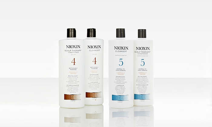 Nioxin Cleanser and Scalp-Therapy Duo: Nioxin Hair-Thickening System. Multiple Systems Available.