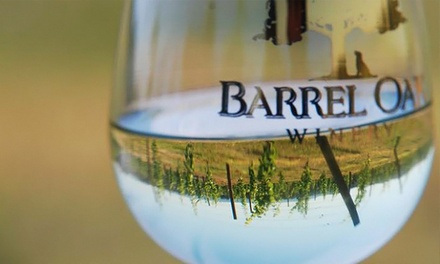 Groupons to Barrel Oak Winery (Up to 50% Off). Two Options Available.