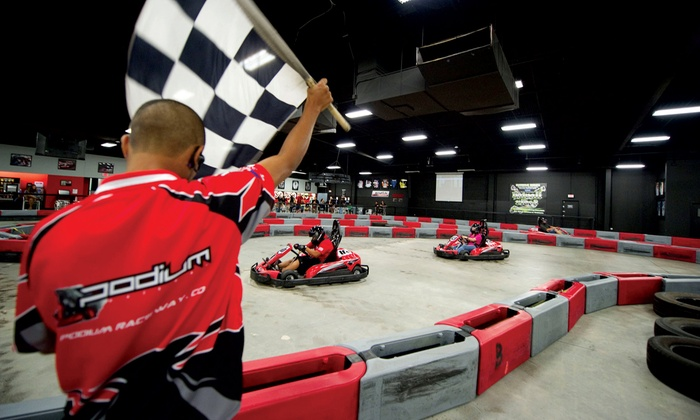 Podium Raceway  - Kapolei: Go-Kart Races, Mini-Golf, or Both, or Go-Kart Party for 10 at Podium Raceway Hawaii (Up to 51% Off)