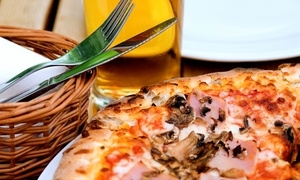 """Jesse Oaks: 12"""" Pizza with Two Seasonal Beers or 16"""" Pizza with Four Seasonal Beers at Jesse Oaks (Up to 47% Off)"""