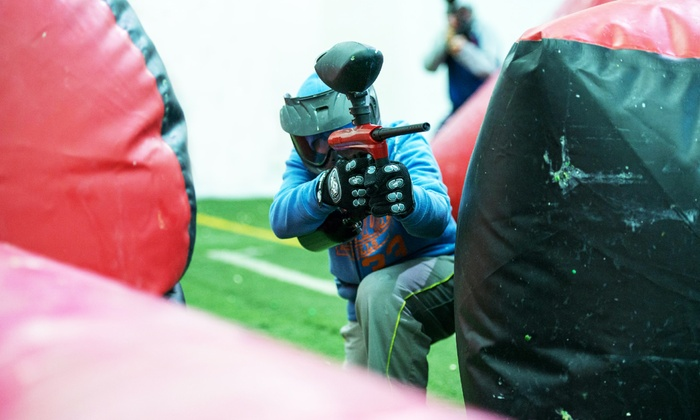 SplatZone Paintball - Cambridge: All-Day Paintball Package for Two, Four, or Six at SplatZone Paintball (Up to 56%Off)