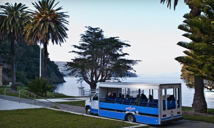 Angel Island Company - Angel Island Café: Historic Angel Island Tram Tour for Two, Four, or Six from Angel Island Company (Up to Half Off)