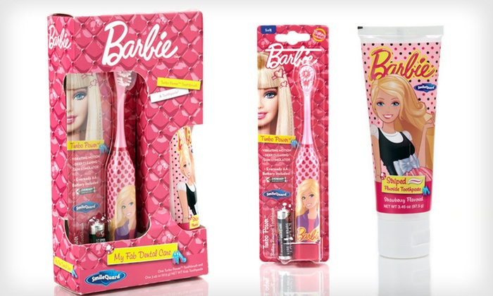 Barbie Turbo Toothbrush Gift Set: $8.99 for a Barbie Turbo Power Toothbrush and Toothpaste Combo Set ($18.98 List Price). Free Returns.