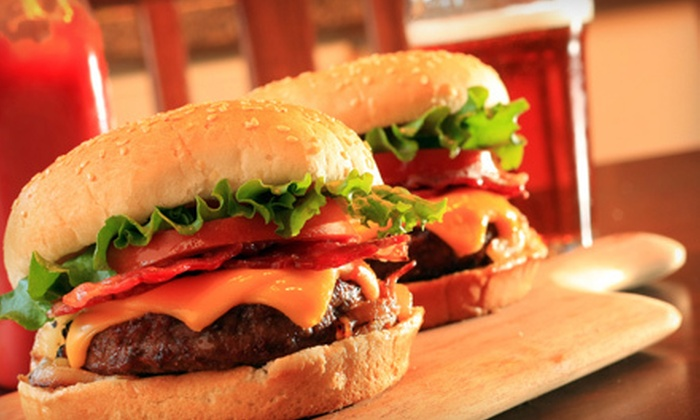 Stacked Pickle - Multiple Locations: Burgers and Beer for Two at Stacked Pickle (Up to $25.98 Value)