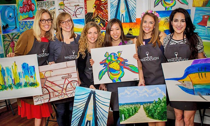 Byob Painting Class Wine And Design Culpeper Groupon