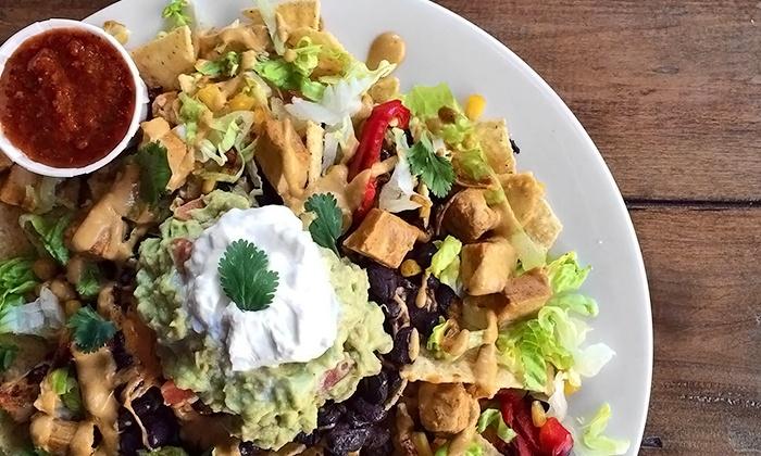 Ahimsa Vegan Cafe - Downtown Long Beach: $18 for Two Groupons, Each Good for $15 Worth of Vegan Food at Ahimsa Vegan Cafe ($30 Value)