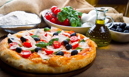Menu pizza con antipasto, dolce e bibita (sconto fino a 73%)