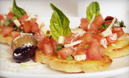 Upscale Italian Dinner with Wine for Two or Four at Mulino's of Westchester (Up to 49% Off). Four Options Available.