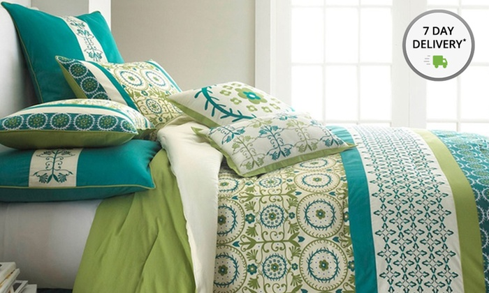 8-Piece Embroidered and Embellished Comforter Sets: 8-Piece Embroidered and Embellished Comforter Sets in Full, Queen, or King from $64.99–$69.99. Free Returns.