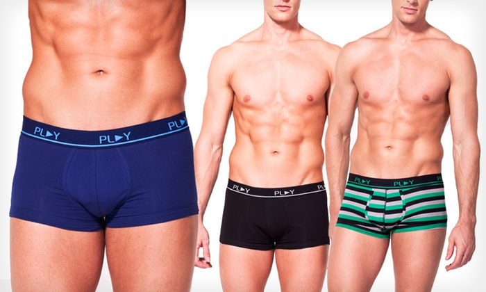 Two-Pack of Play Men's Trunk Briefs: $12 for a Two-Pack of Play Men's Trunk Briefs ($28 List Price). Multiple Sizes and Colors Available.