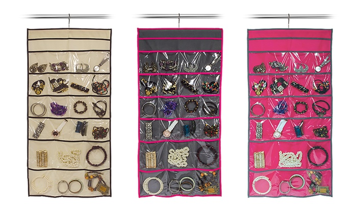 22-Pocket Hanging Jewelry Organizer: 22-Pocket Hanging Jewelry Organizer