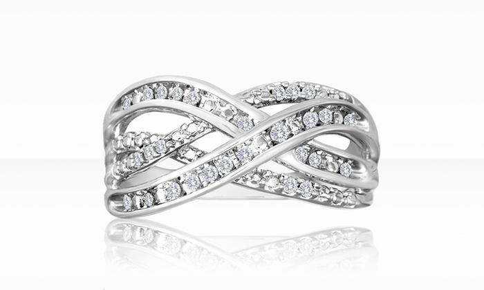 1/5 ct.tw. Diamond Ring in Sterling Silver: Diamond and Sterling Silver Orbit Ring. Free Shipping and Returns.
