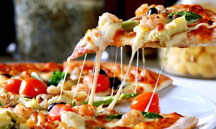 Pizza and Drinks at River Hills Pizza (Up to 40% Off). Three Options Available.