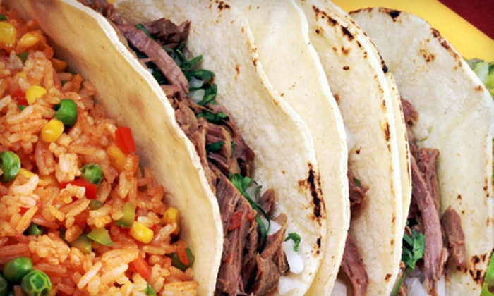 Tacoland Mex-Mex Tacos - Tacoland Mex-Mex Tacos: Mexican Food at Tacoland Mex-Mex Tacos (Half Off). Two Options Available.
