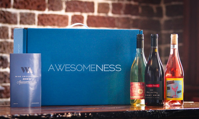 Wine Awesomeness: $23 for Three Curated Bottles of International Wine from Wine Awesomeness ($45 Value)
