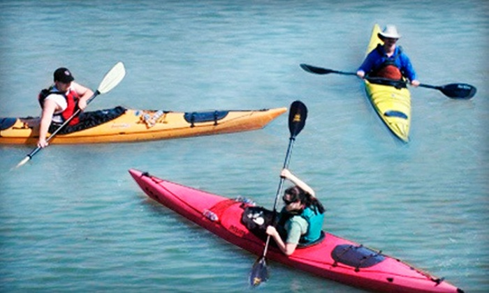 High Trails Canoe and Kayak Outfitters - Garland West Industrial Park: Rental of One or Two Kayaks or Paddleboards, Tandem Kayak, or Canoe at High Trails Canoe and Kayak Outfitters (Half Off)