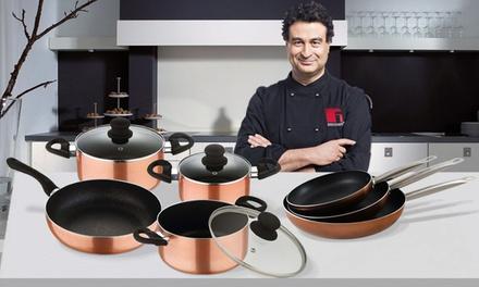 Batería de cocina San Ignacio con opción a juego de 3 sartenes Professional Chef Copper