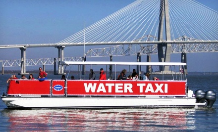 Two or Four All-Day Water-Taxi Passes from Charleston Water Taxi (Up to 40% Off)