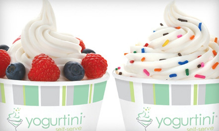 Yogurtini - Multiple Locations: Frozen Yogurt and Toppings at Yogurtini (Half Off). Two Options Available.
