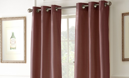 Home Essentials Set of Two Blackout Curtains