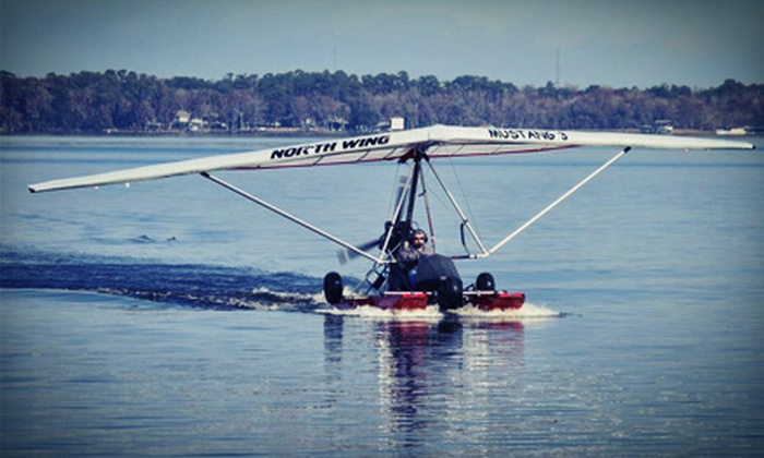 Duckwing Triking - Fleming Island: 30-Minute Powered Hang-Glider Lesson, or Powered Hang-Glider Flight for One or Two from Duckwing Triking (Up to 63% Off)
