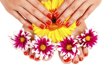Mani-Pedi or Spa Mani-Pedi at Peter Alexandra Salon (Up to 56% Off)