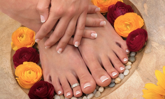 Bernard's Salon and Spa - Springdale: Manicure, Pedicure, and 60-Minute Cleansing Facial or swedish Massage at Bernard's Salon and Spa ($123 Value)