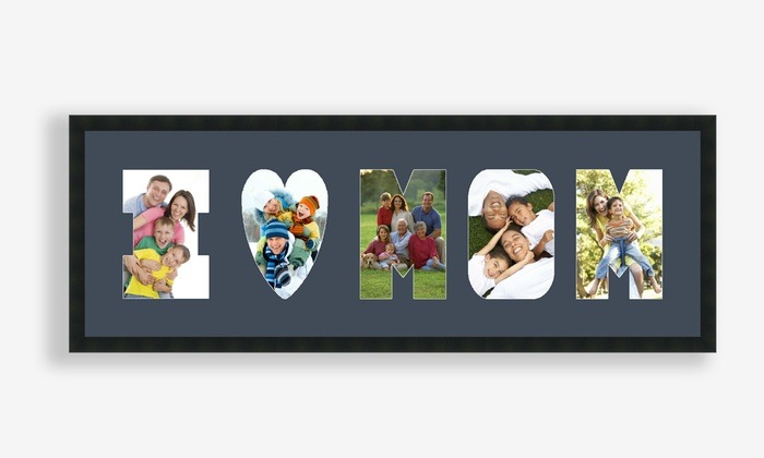 ArtToFrames.com: Personalized Framed Letter Collage from ArtToFrames.com (Up to 57% Off)