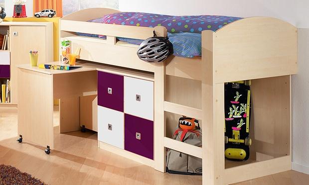 hochbett set sunny groupon goods. Black Bedroom Furniture Sets. Home Design Ideas